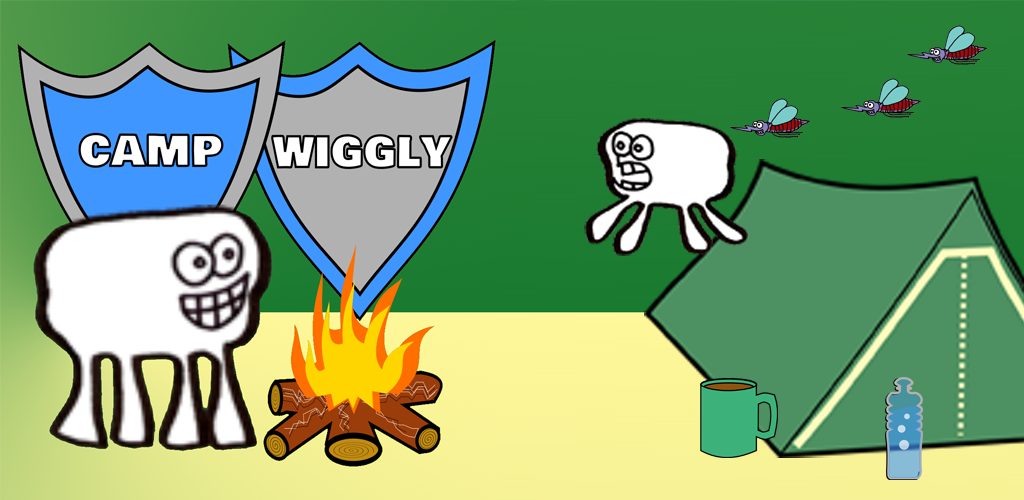 Camp Wiggly mobile game for iOS and Android